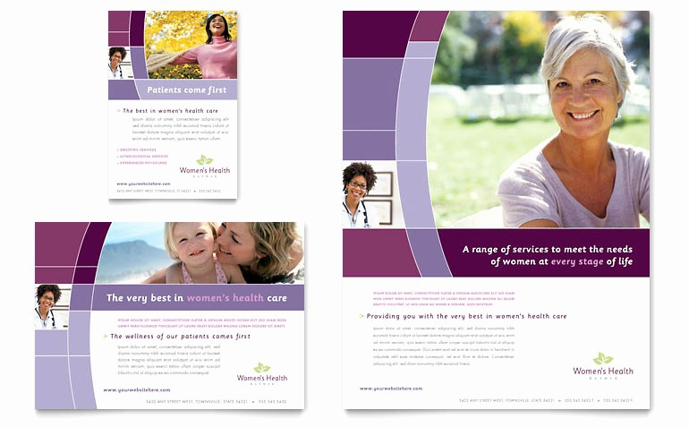 Healthcare Brochure Templates Free Download Unique Women's Health Clinic Flyer & Ad Template Word & Publisher