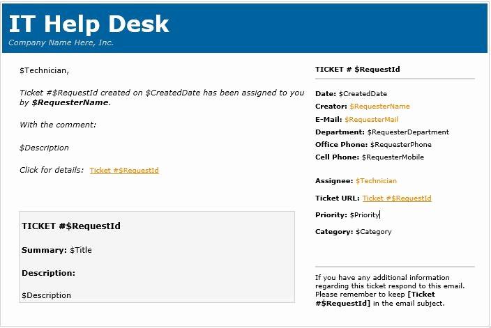 Help Desk Ticket Template Word Lovely Help Desk Ticket Template Word