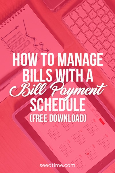 Help Me Manage My Money Beautiful How to Manage Bills with A Bill Payment Schedule