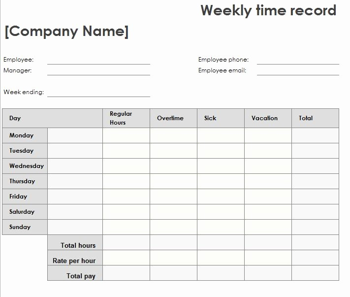 Help today Personal Loans Excel Fresh Weekly Time Sheet My Excel Templates