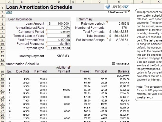 Help today Personal Loans Excel Luxury Amortization Schedule for Excel Free and