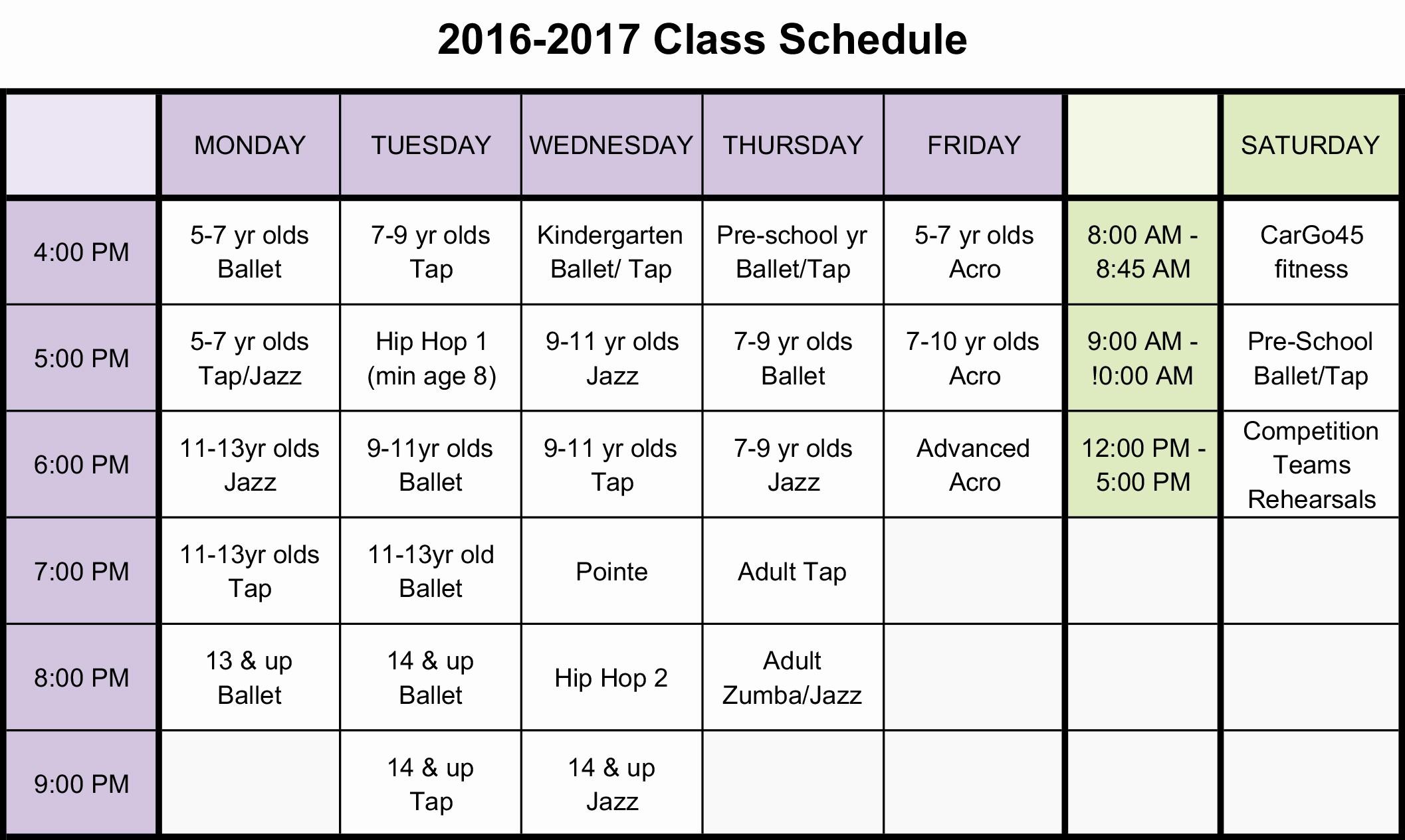 High School Class Schedule Example Beautiful High School Class Schedule Example Idealstalist