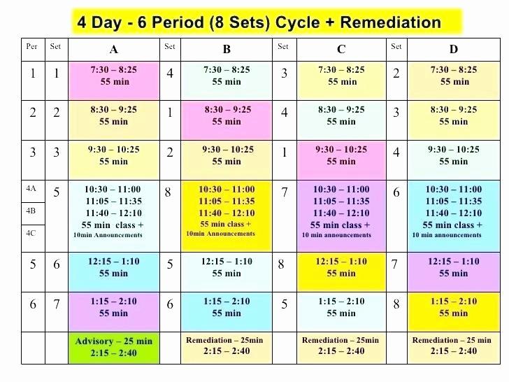 High School Class Schedule Example Elegant Classroom Schedule Template Free Weekly Class Schedule