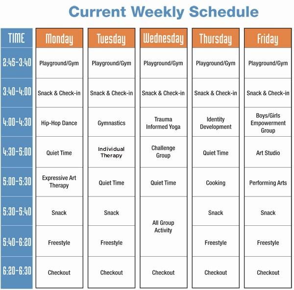 High School Class Schedule Sample Beautiful Sample Schedule