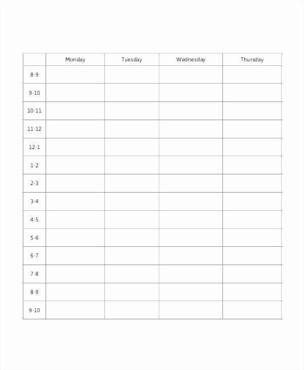 High School Class Schedule Sample Best Of Cute Class Schedule Template Blank School Timetable