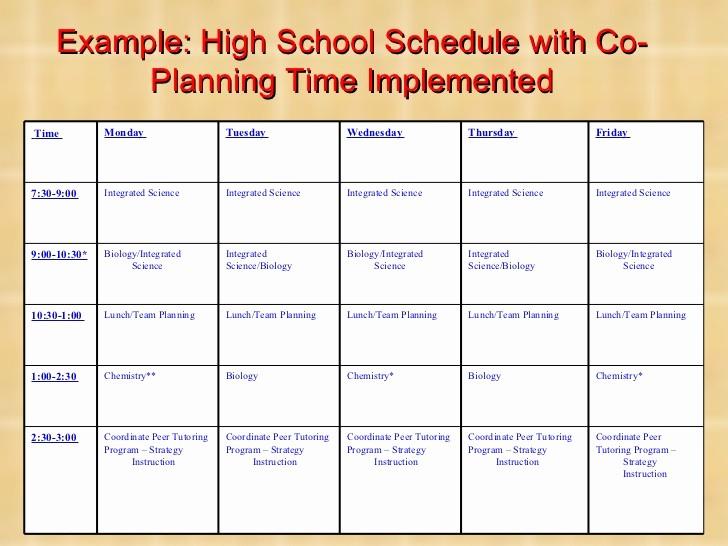 High School Class Schedule Sample Lovely High School Schedule Examples Q A About Our Schedule