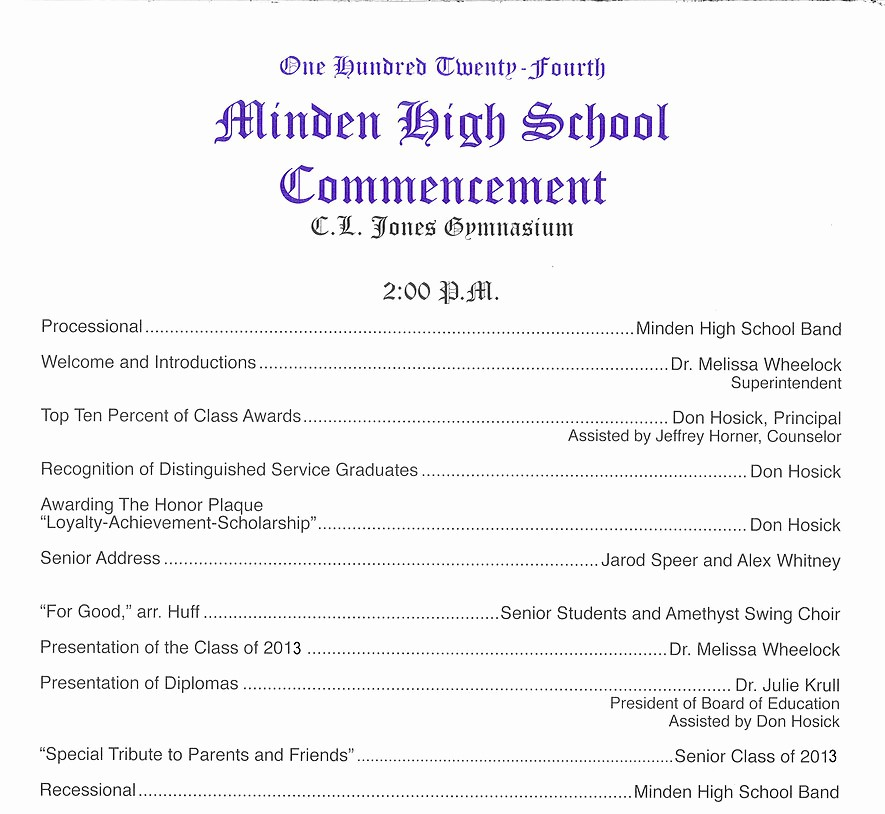 High School Graduation Program Template Awesome Mindengrad