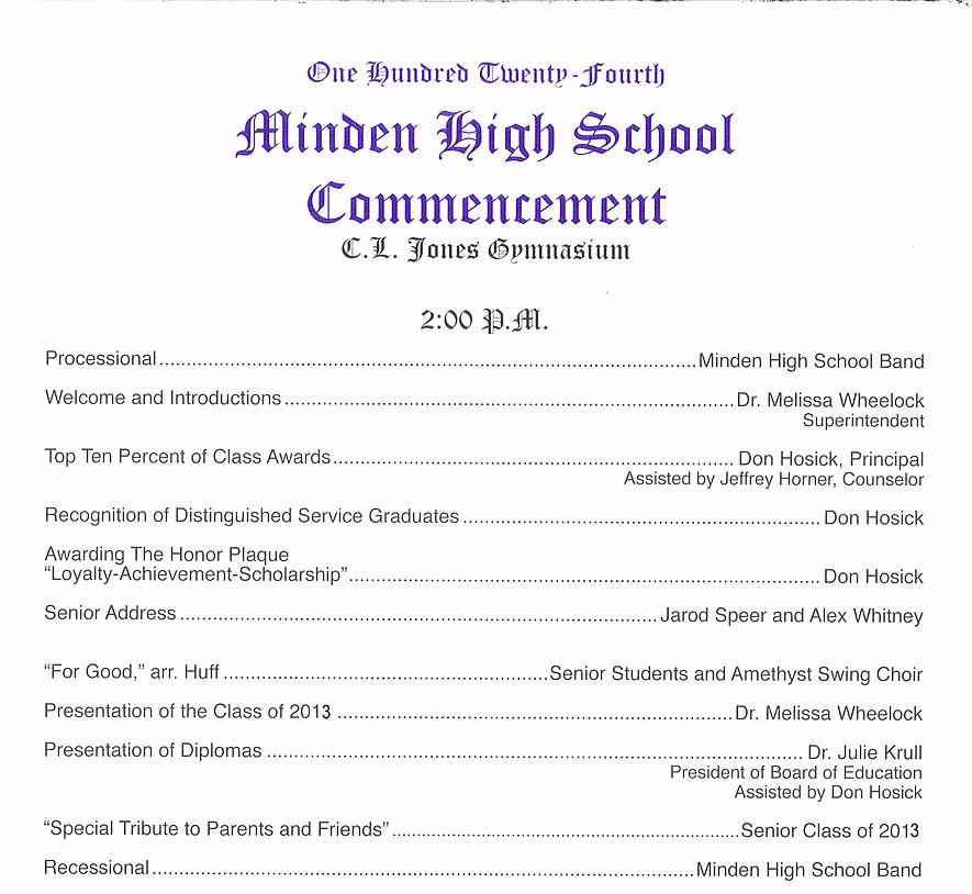 High School Graduation Program Template Awesome Mindengrad