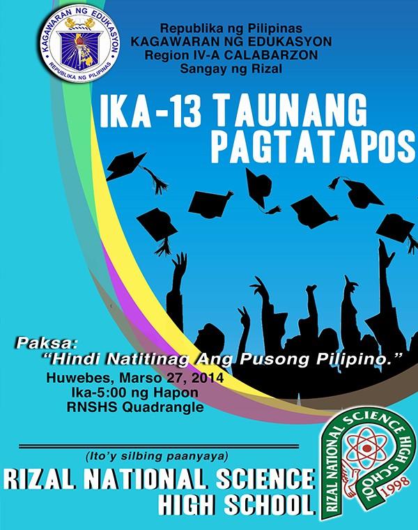 High School Graduation Program Template Beautiful Graduation Program Cover Design 2014 Batch 13 Rnshs On