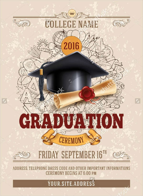 High School Graduation Program Template Best Of Party Flyer Templates