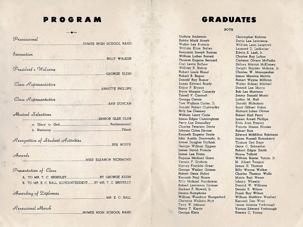 High School Graduation Program Template Lovely Elvis the Year 1953