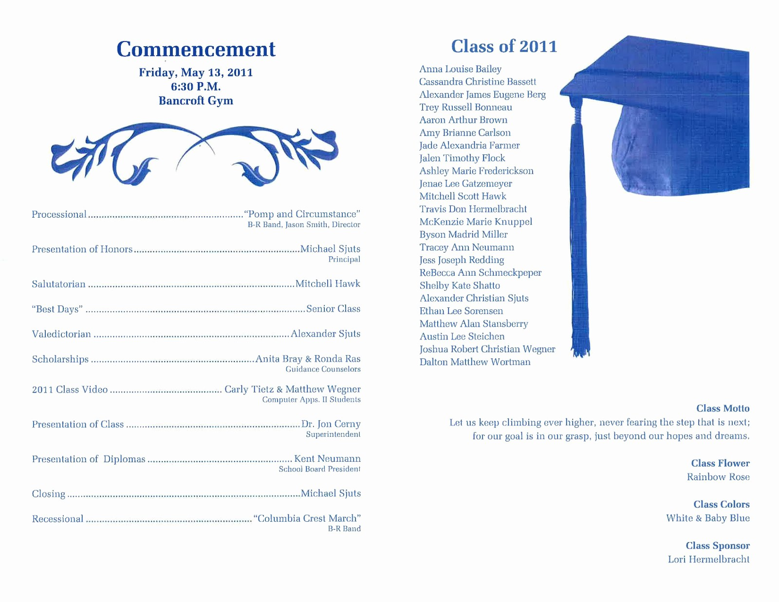 High School Graduation Program Template Lovely Graduation Program Template