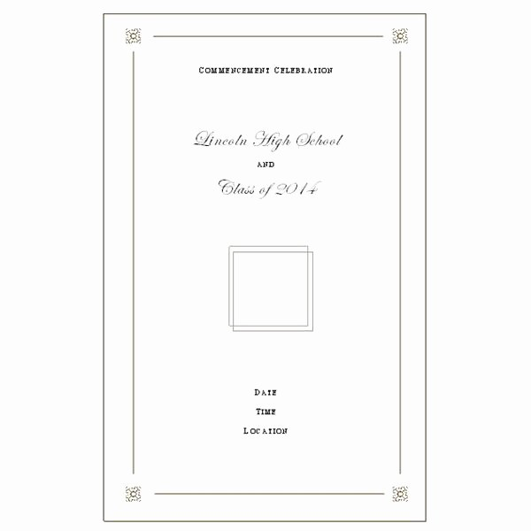 High School Graduation Program Template Lovely High School Mencement Ceremony Program Want to Make