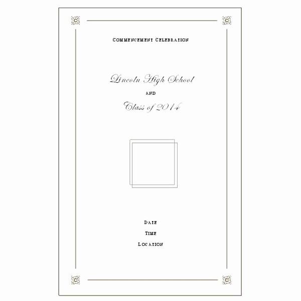 High School Graduation Program Template Lovely High School Mencement Ceremony Program Want to Make