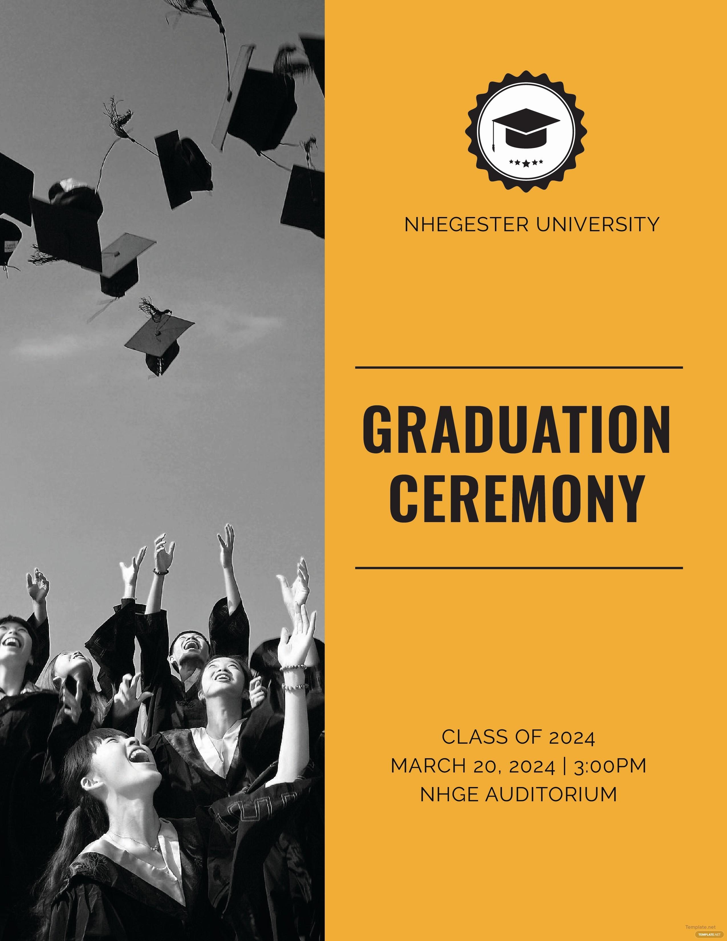 High School Graduation Program Template New Free Graduation Programs Template In Adobe Shop