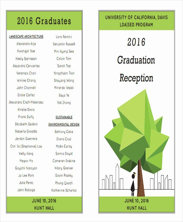High School Graduation Program Template Unique Graduation Program Template Graduation Program Template