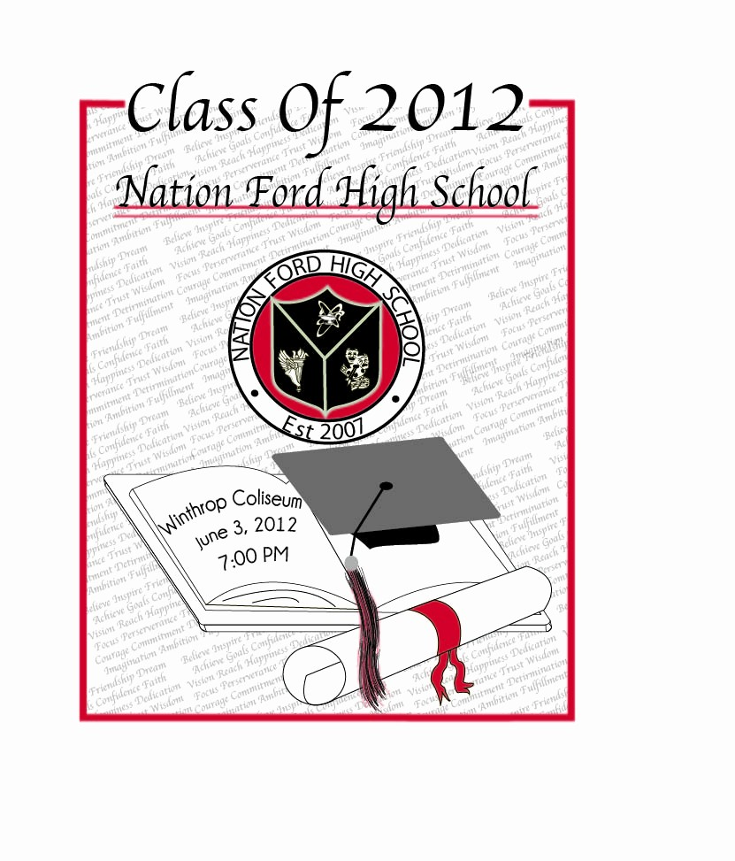 High School Graduation Program Template Unique High School Graduation Program Covers Digital Art Design