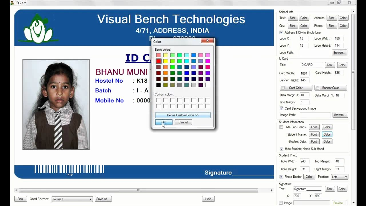High School Id Card Template Awesome Id Card Template Free software Download Templates Data