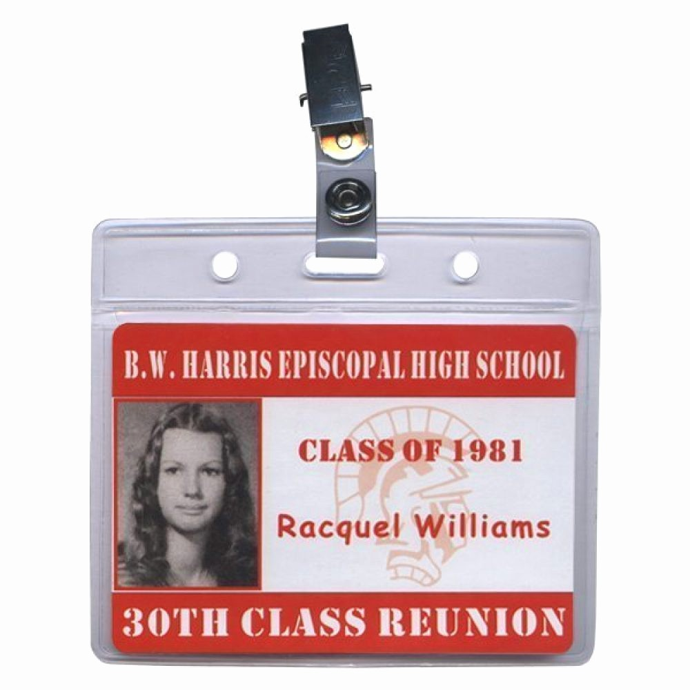 High School Id Card Template Awesome Premium Class Reunion Nametag with Template 2