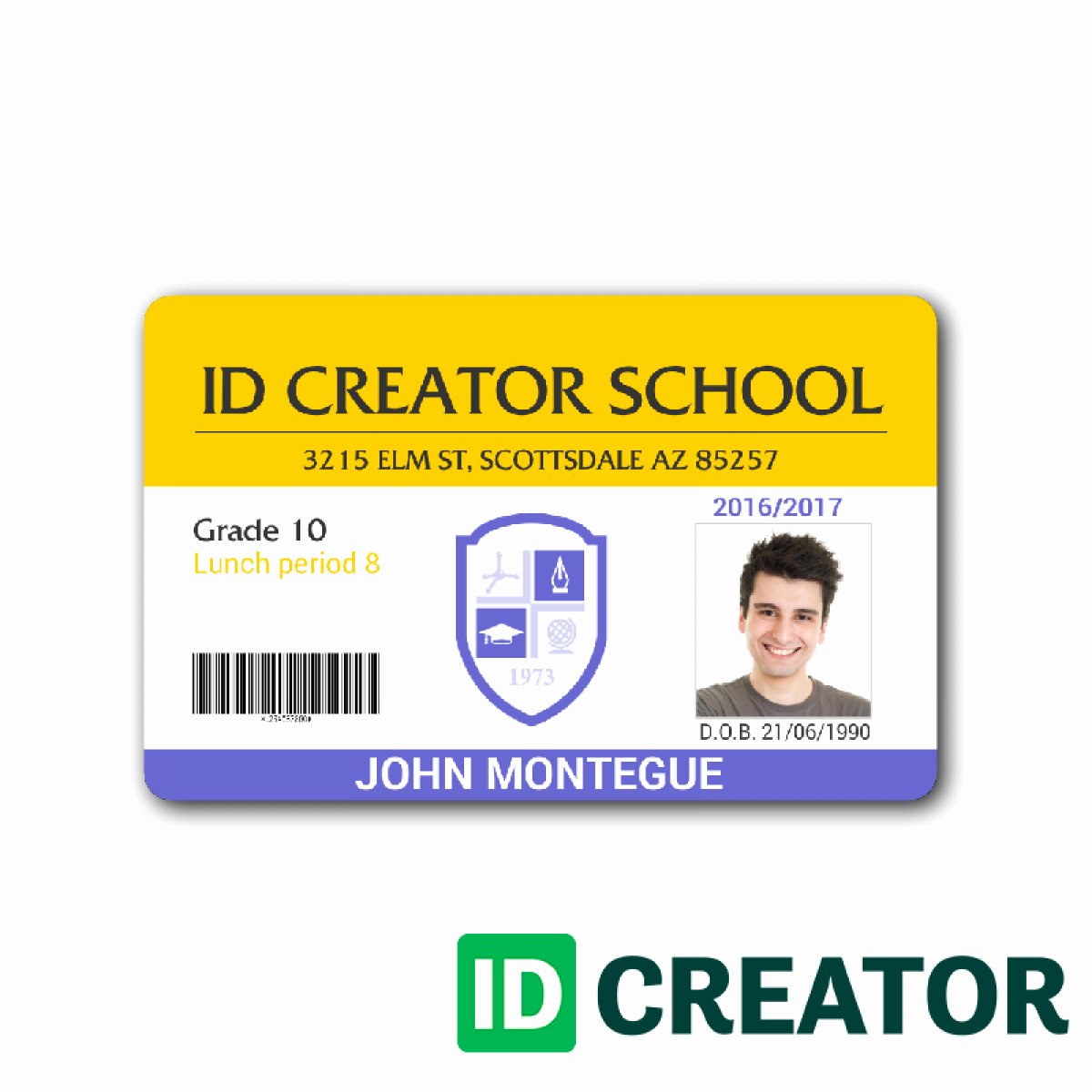 High School Id Card Template Awesome Student Id Template