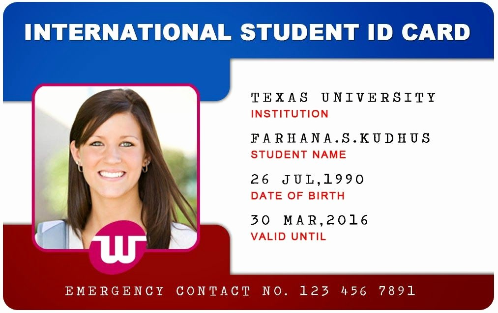 High School Id Card Template Beautiful Beautiful Student Id Card Templates Desin and Sample Word