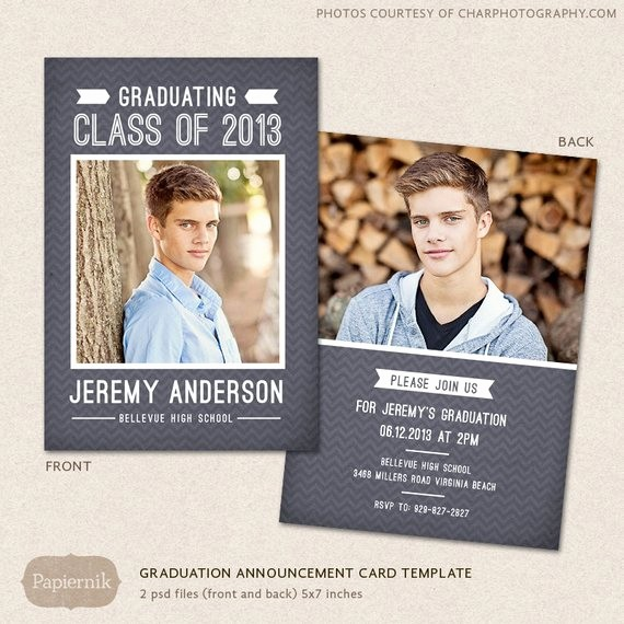High School Id Card Template Best Of Senior Graduation Announcement Template for Graphers Psd