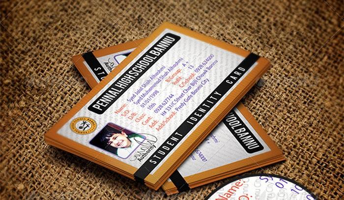 High School Id Card Template Elegant 15 Best Id Card Template Design In Psd and Ai Designyep