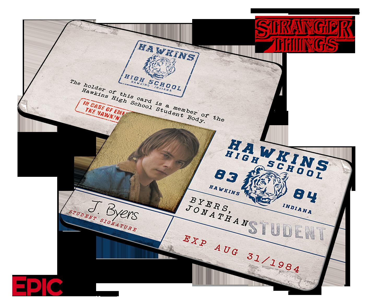 High School Id Card Template Fresh Hawkins High School Stranger Things Student Id Card
