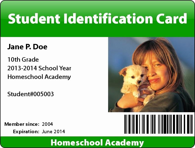 High School Id Card Template Fresh High School Id Card Template Studentid3 Templates