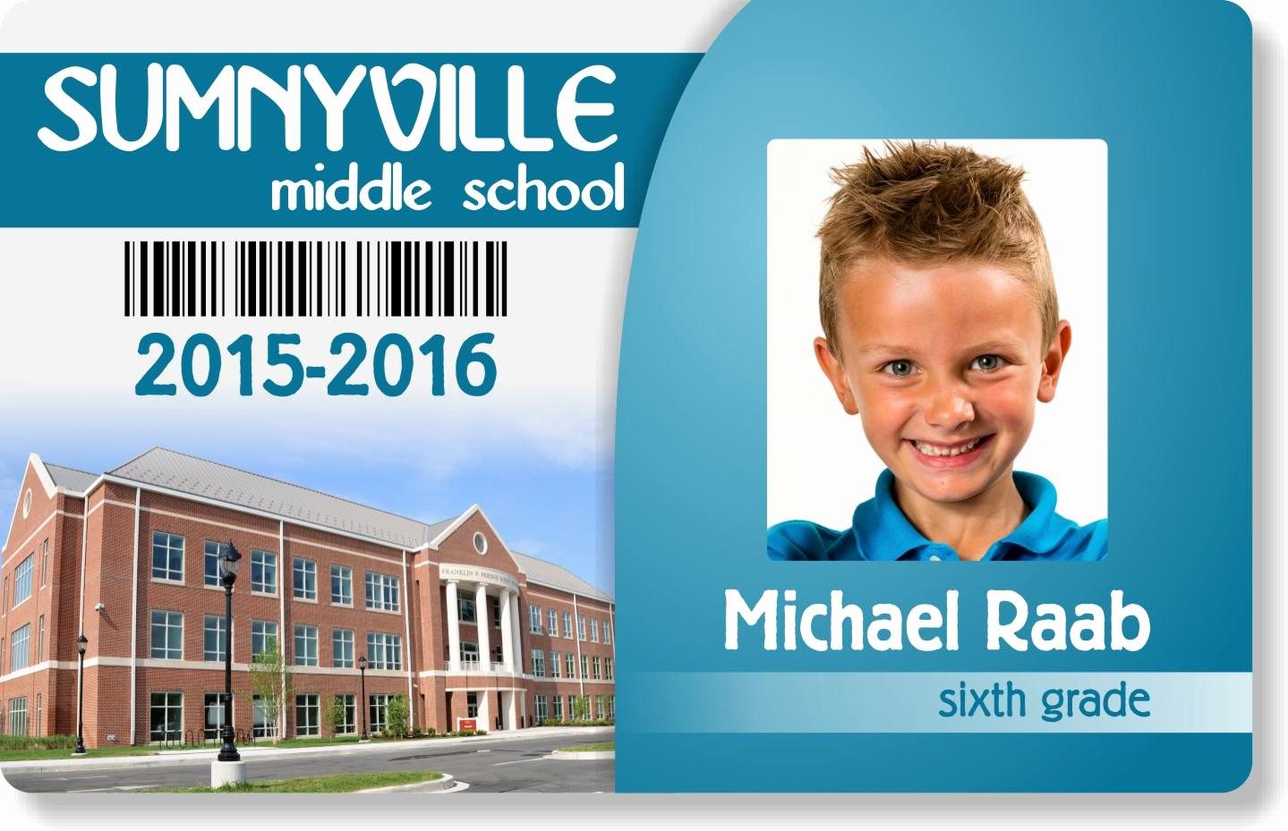 High School Id Card Template Inspirational Sample Card Designs