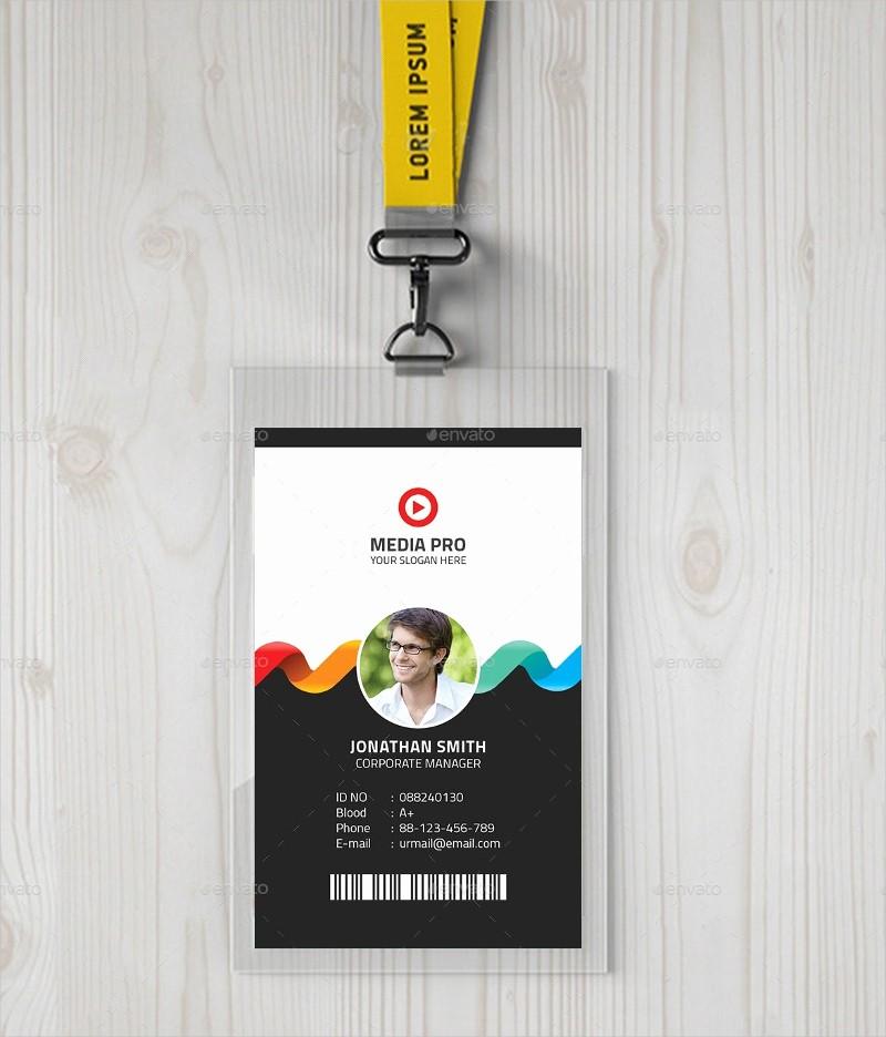 High School Id Card Template Luxury 40 Creative Id Card Designs Psd Ai