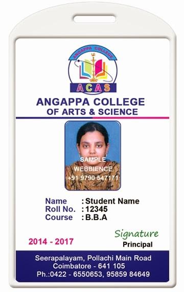 High School Id Card Template New Id Card Coimbatore Ph College Id Card