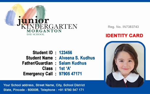 High School Id Card Template New Id Cards