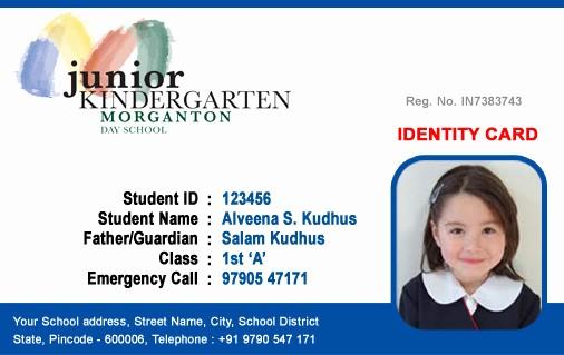High School Id Card Template New Id Cards