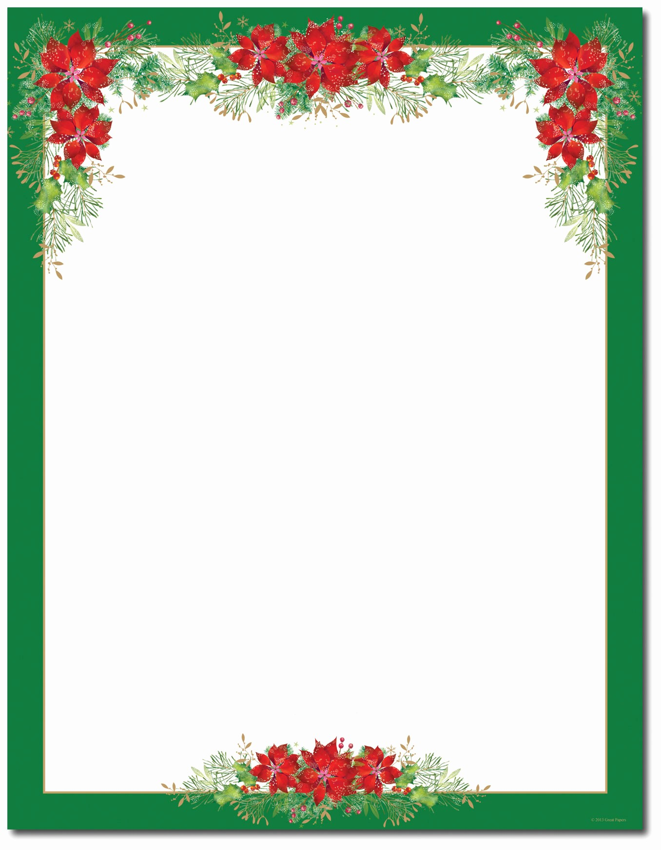Holiday Border for Microsoft Word Awesome 15 Poinsettia Page Border Designs Free Printable