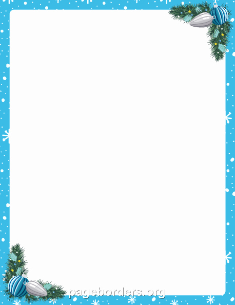 Holiday Border for Microsoft Word Awesome Blue Christmas Borders for Microsoft Word – Fun for