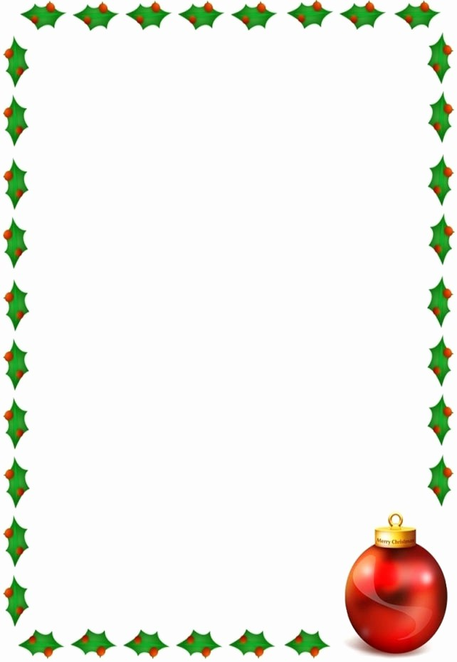 Holiday Border for Microsoft Word Awesome Free Christmas Borders