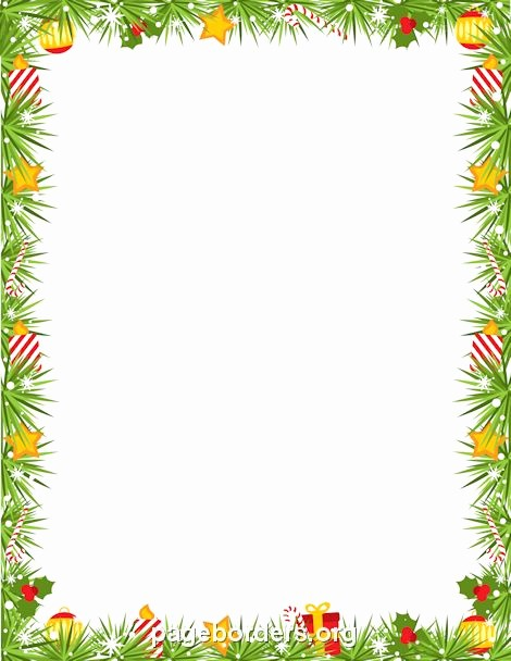 Holiday Border for Microsoft Word Awesome Printable Christmas Garland Border Use the Border In