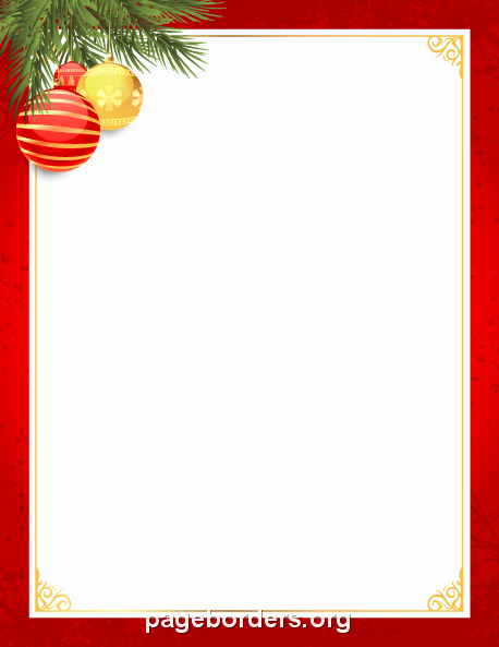 Holiday Border for Microsoft Word Awesome Red and Gold Christmas Border Clip Art Page Border and