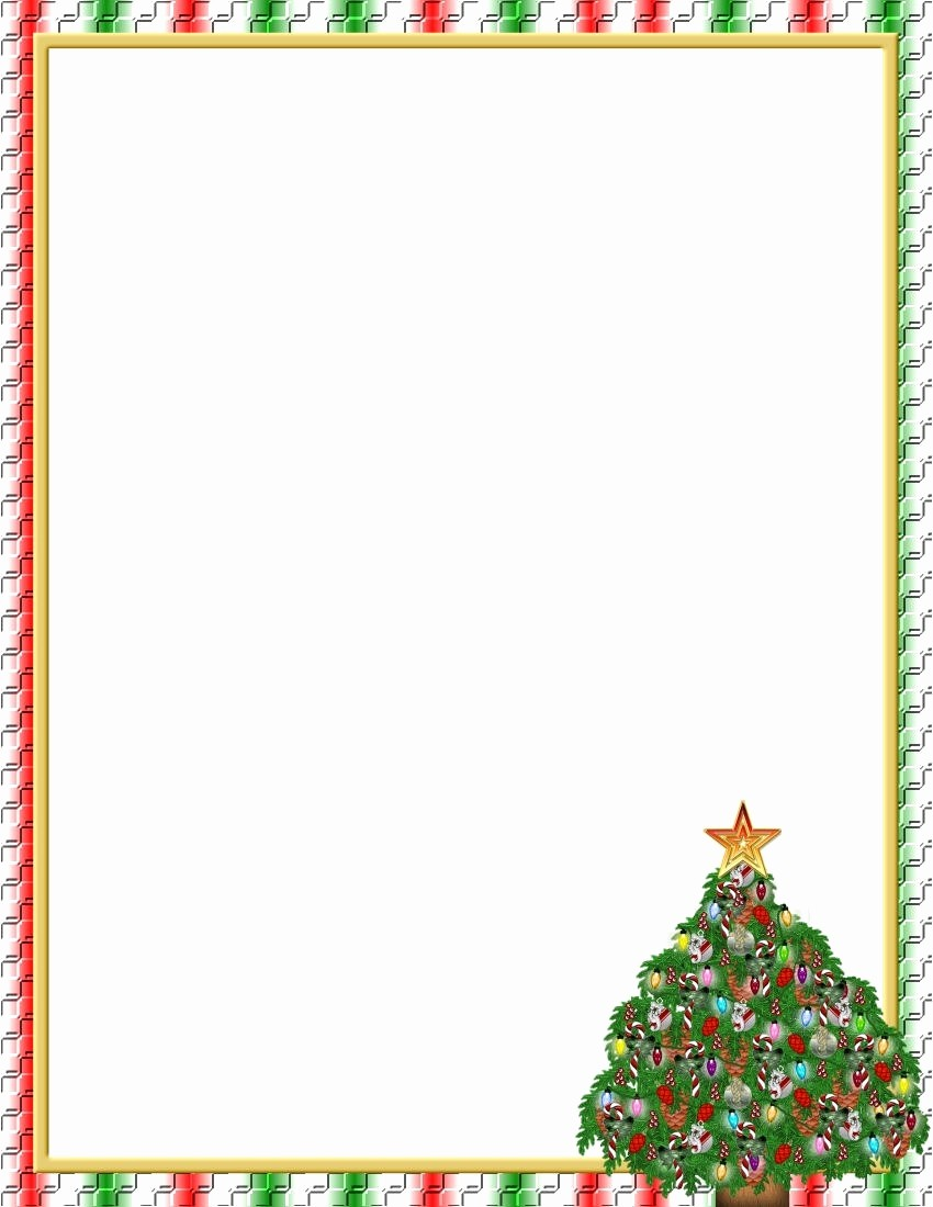 Holiday Border for Microsoft Word Beautiful Christmas Border Template Microsoft Word