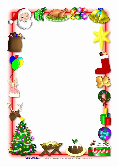 Holiday Border for Microsoft Word Beautiful Christmas Page Borders for Microsoft Word