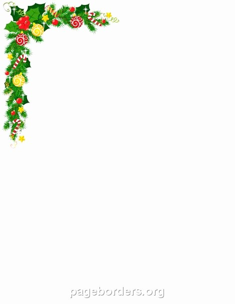 Holiday Border for Microsoft Word Unique Printable Christmas Corner Border Use the Border In