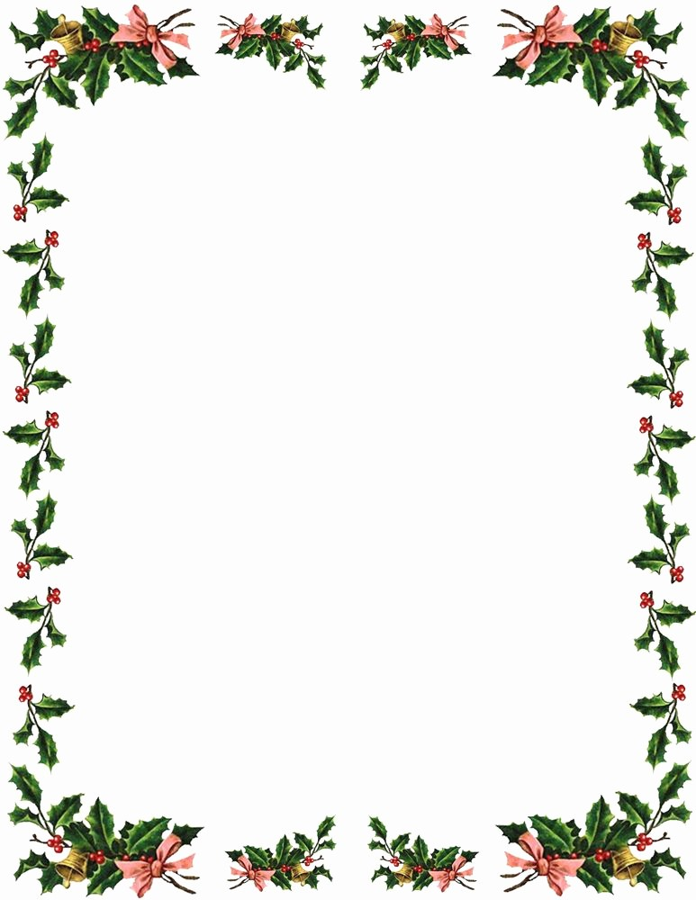 Holiday Page Borders for Word Awesome Christmas Borders and Frames Clipart Best