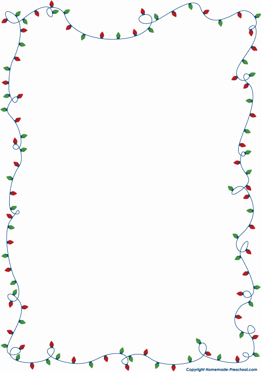 Holiday Page Borders for Word Awesome Free Christmas Lights Clipart