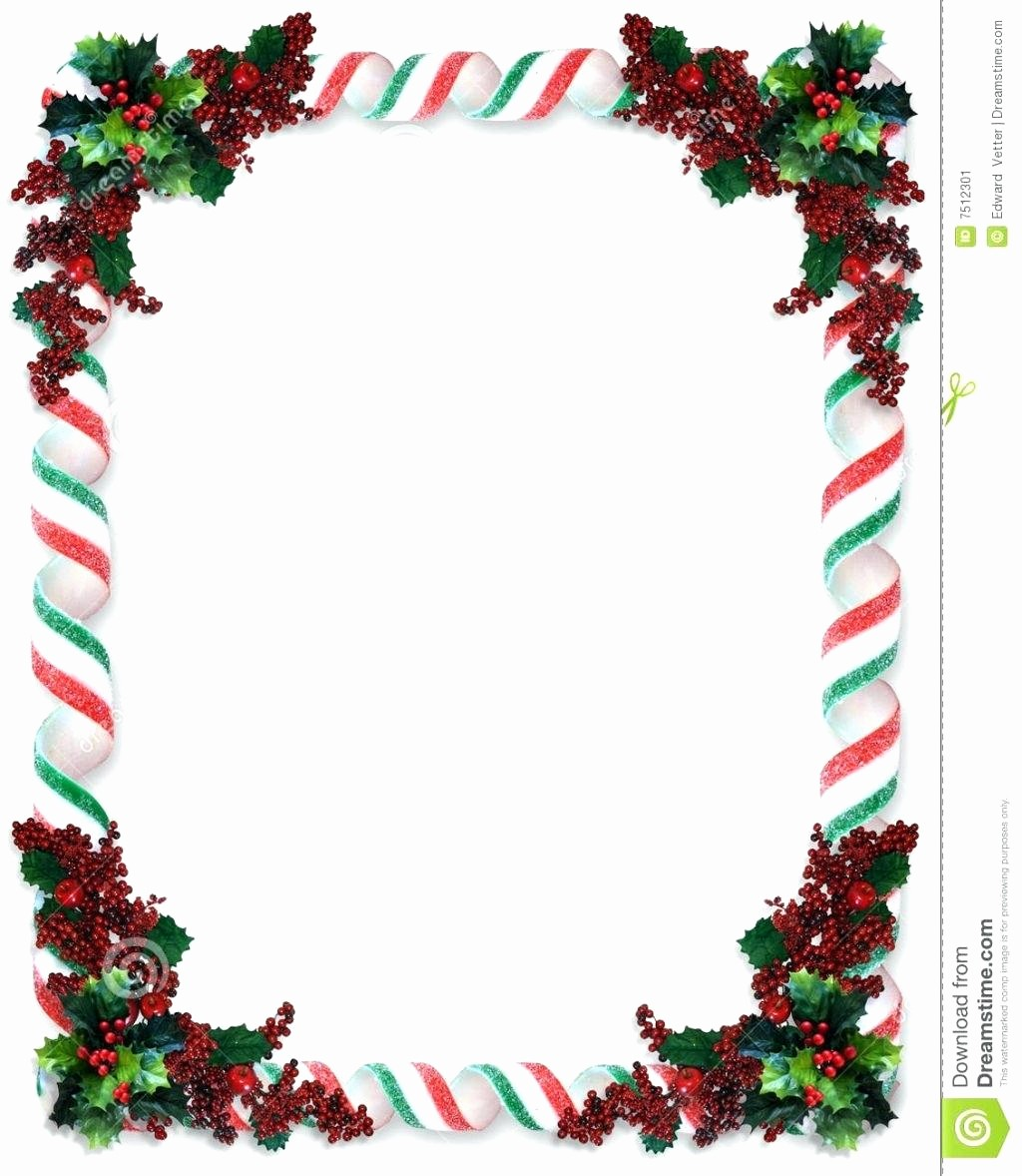 Holiday Page Borders for Word Best Of Template Christmas Border Word Template
