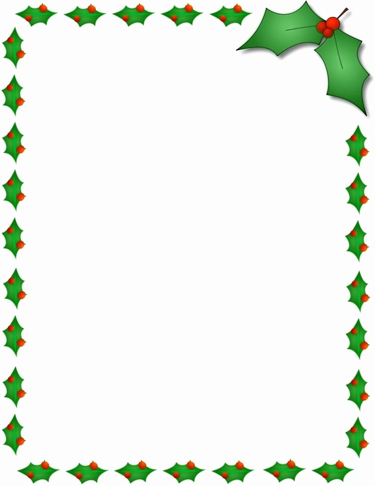 Holiday Page Borders for Word Inspirational Christmas Holly Border Page Public Domain Clip Art Image