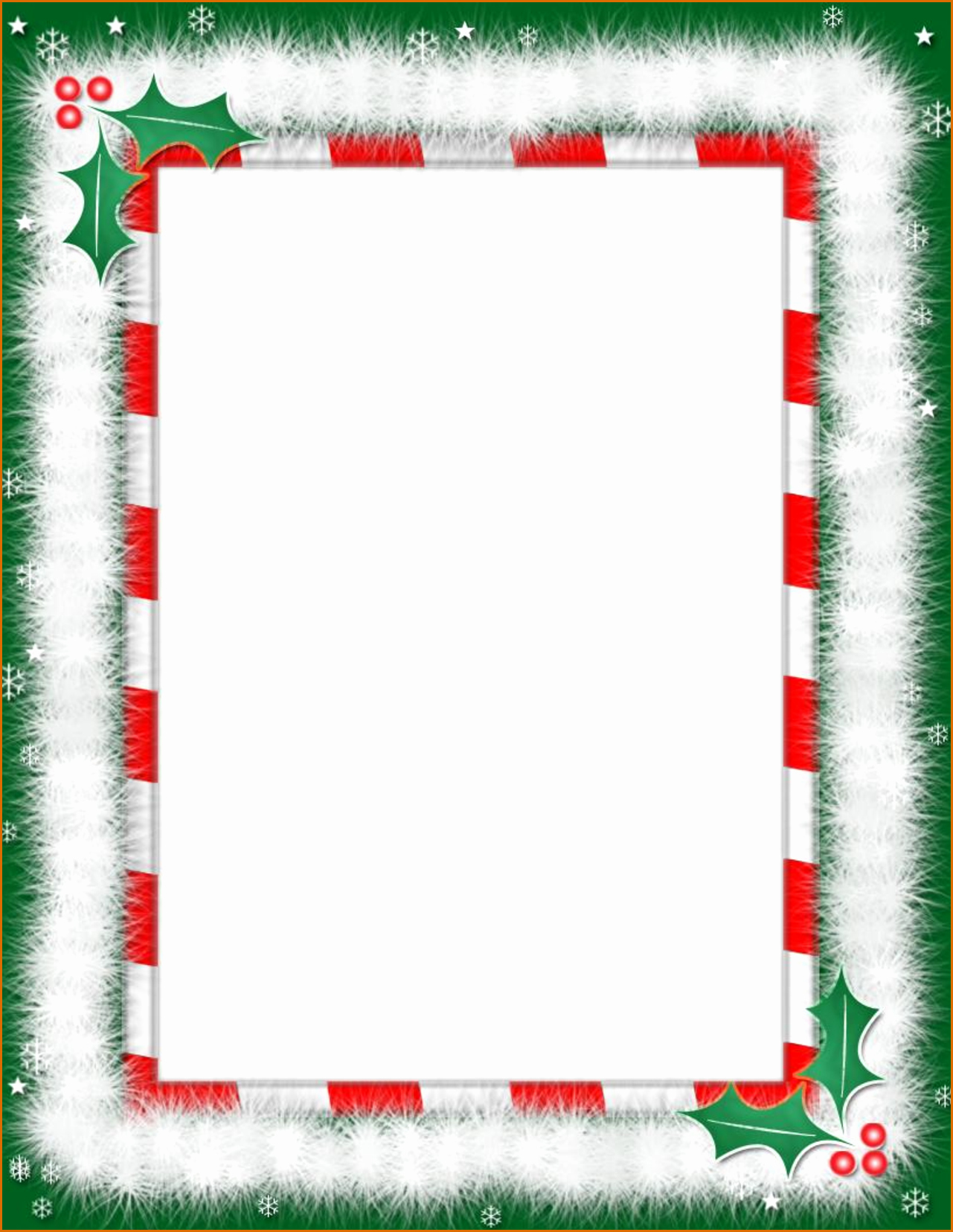 Holiday Page Borders for Word Luxury 7 Christmas Borders for Word