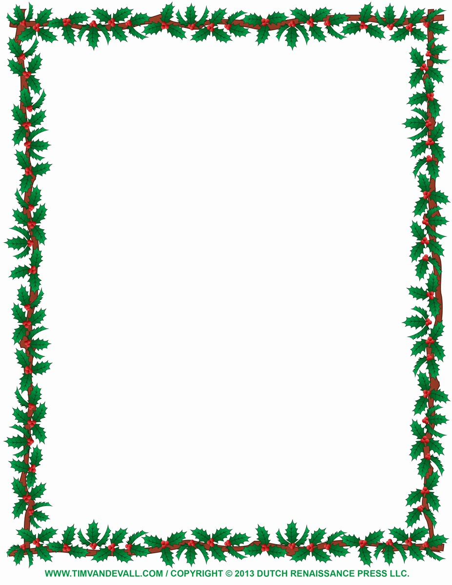 Holiday Page Borders for Word New Christmas Border Christmas Clip Art Borders for Word