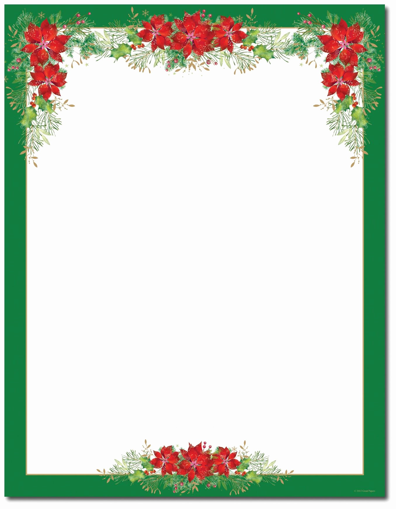 Holiday Paper Templates Free Download Beautiful Poinsettia Valance Letterhead Holiday Papers