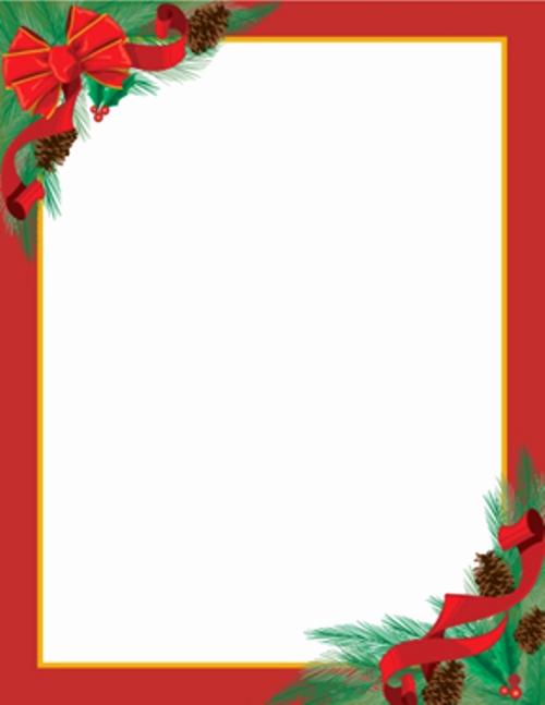 Holiday Paper Templates Free Download Elegant Christmas Letterhead On Pinterest